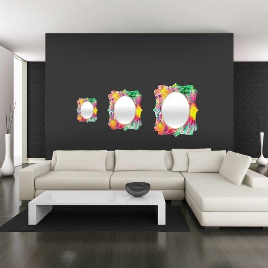 DENY Designs Joy Laforme Floral Confetti Quatrefoil Mirror