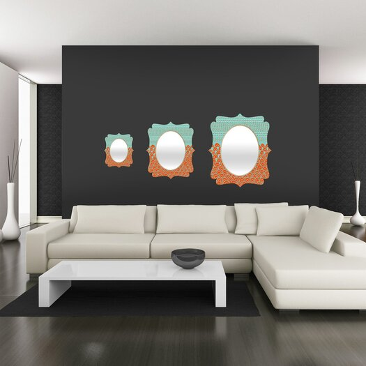 DENY Designs Budi Kwan The Infinite Tidal Quatrefoil Mirror