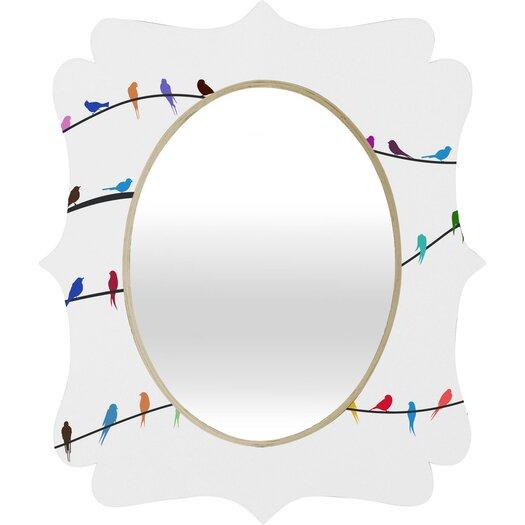 DENY Designs Belle 13 Happy Spring Quatrefoil Mirror