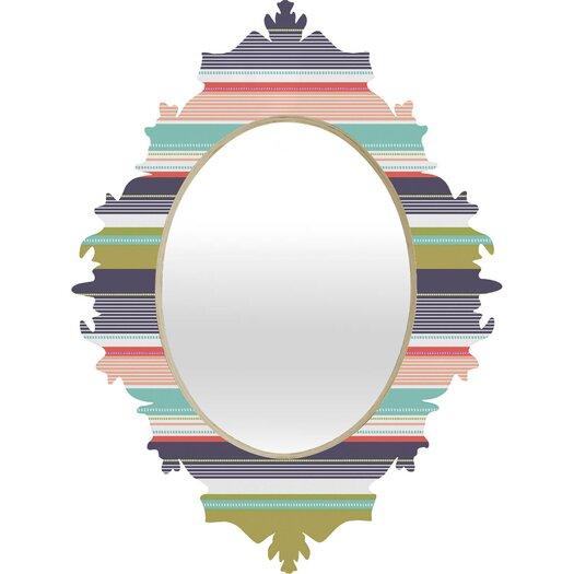 DENY Designs Wendy Kendall Multi Stripe Wall Mirror