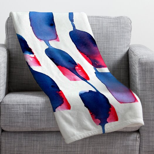 DENY Designs CMYKaren Color Run Polyester Fleece Throw Blanket