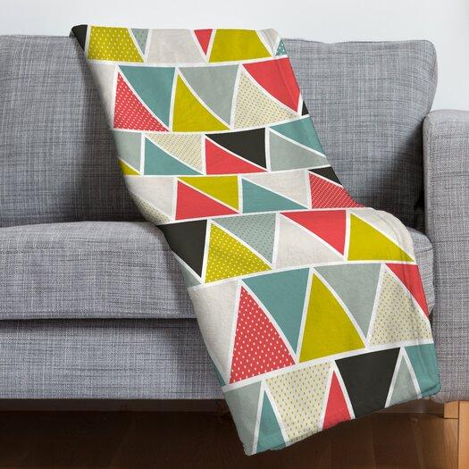 DENY Designs Heather Dutton Triangulum Polyester Fleece Throw Blanket