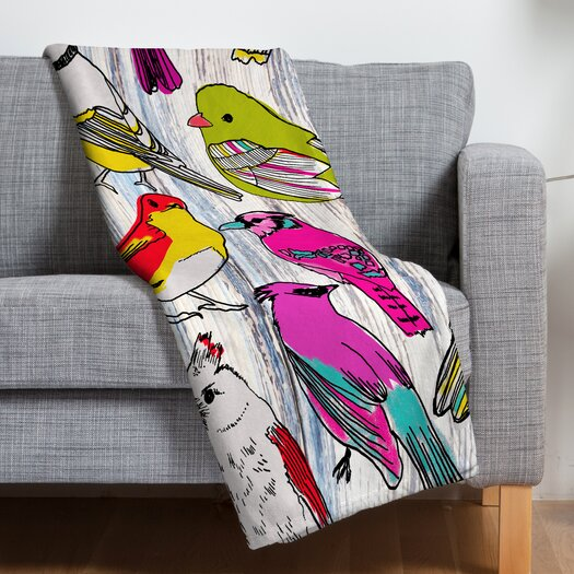 DENY Designs Mary Beth Freet Couture Home Birds Polyester Fleece Throw Blanket