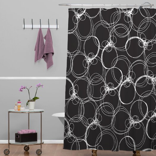 DENY Designs Rachael Taylor Polyester Circles Shower Curtain