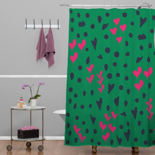 DENY Designs Vy La Animal Love Woven Polyesterr Shower Curtain