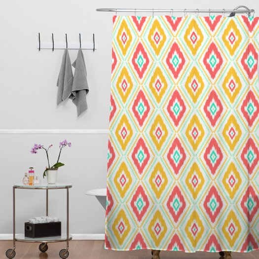 DENY Designs Jacqueline Maldonado Woven Polyester Zig Zag Ikat Shower Curtain