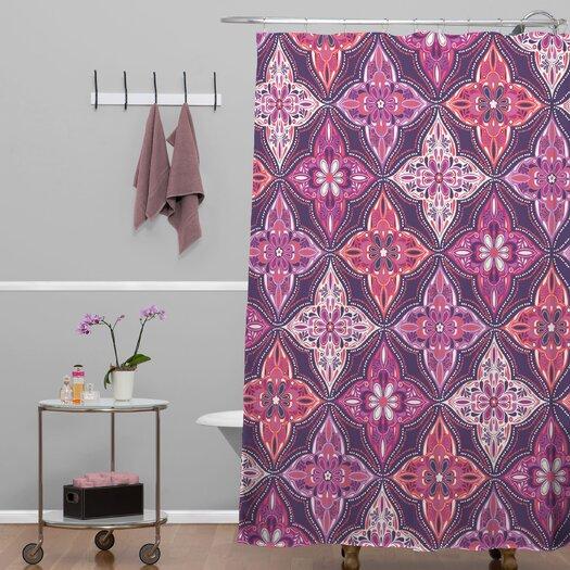 DENY Designs Khristian A Howell Woven Polyester Provencal Lavender 5 Shower Curtain