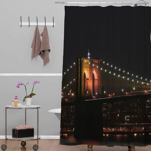 DENY Designs Leonidas Oxby Woven polyester Brooklyn Bridge 2 Shower Curtain