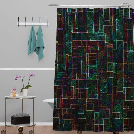 DENY Designs Jacqueline Maldonado Woven Polyester Matrix Shower Curtain