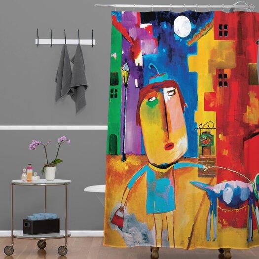 DENY Designs Robin Faye Gates Polyester Sylvia Needs Eggs Shower Curtain