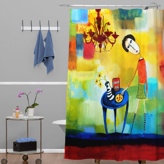 DENY Designs Robin Faye Gates Polyester Cheeze It Thank You Shower Curtain