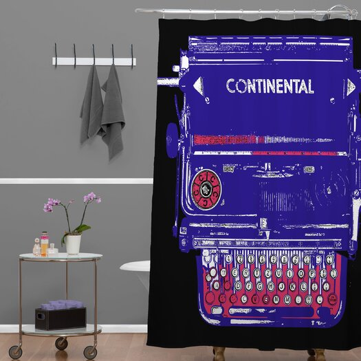 DENY Designs Romi Vega Polyester Continental Typewriter Shower Curtain