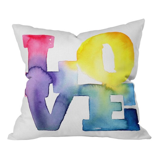 DENY Designs CMYKaren Love 4 Polyester Throw Pillow