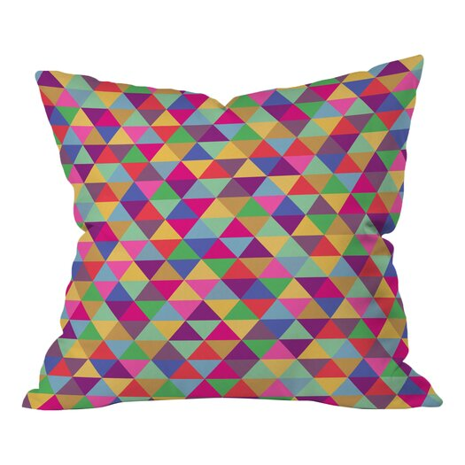 DENY Designs Bianca Green Triangles Throw Pillow