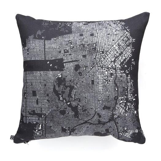 DENY Designs CityFabric Inc San Francisco Woven Polyester Throw Pillow