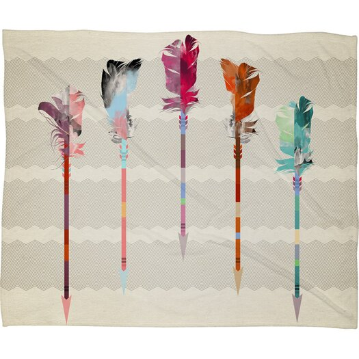 DENY Designs Iveta Abolina Feathered Arrows Polyester Fleece Throw Blanket