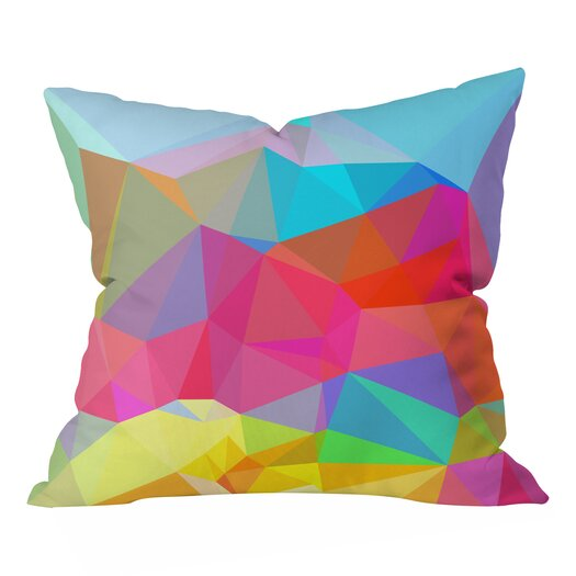 DENY Designs Three of the Possessed Crystal Crush Throw Pillow