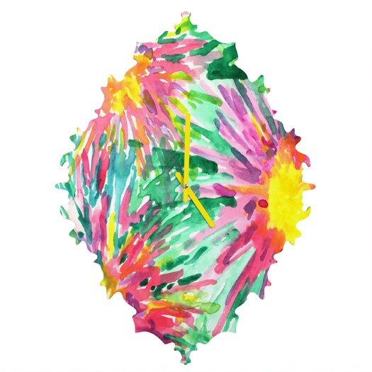DENY Designs Joy Laforme Floral Confetti Wall Clock