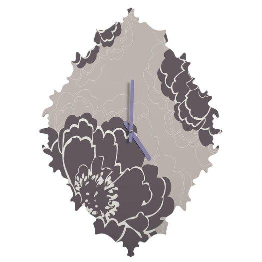DENY Designs Caroline Okun Winter Peony Wall Clock