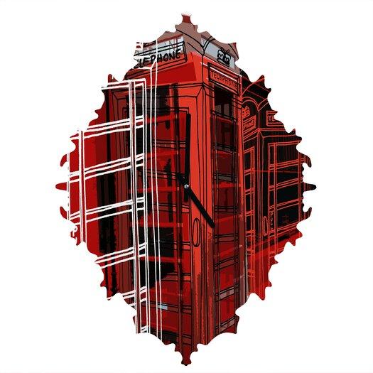 DENY Designs Aimee St. Hill Phone Box Wall Clock