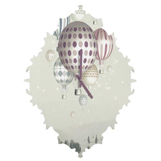 DENY Designs Belle 13 Winter Dreamflight Wall Clock