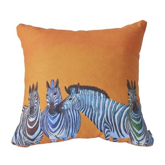 DENY Designs Clara Nilles Candy Stripe Zebra Throw Pillow