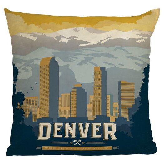 DENY Designs Anderson Design Group Denver 1 Woven Polyester Throw Pillow