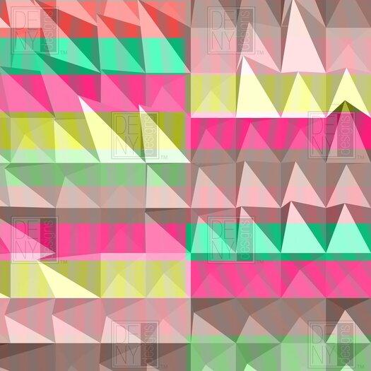 DENY Designs Jacqueline Maldonado Woven Polyester Pyramid Scheme Shower Curtain