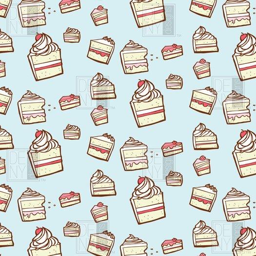 DENY Designs Jennifer Denty Woven Polyester Cake Slices Shower Curtain