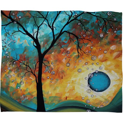 DENY Designs Madart Inc. Aqua Burn Polyester Fleece Throw Blanket