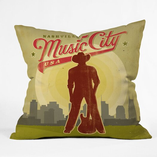 DENY Designs Anderson Design Group Music City Indoor/Outdoor Polyester Throw Pillow