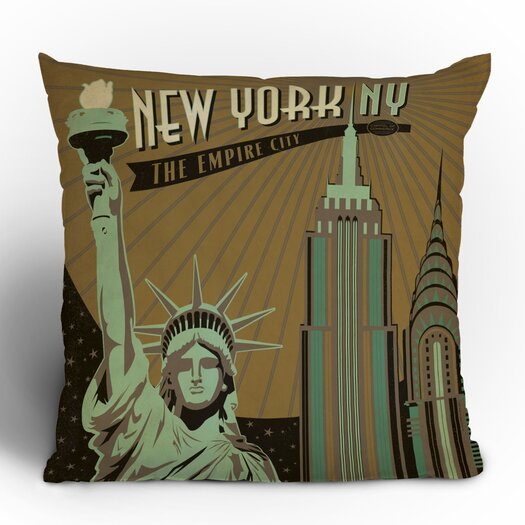 DENY Designs Anderson Design Group New York Woven Polyester Throw Pillow