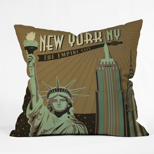 DENY Designs Anderson Design Group New York Indoor/Outdoor Polyester Throw Pillow
