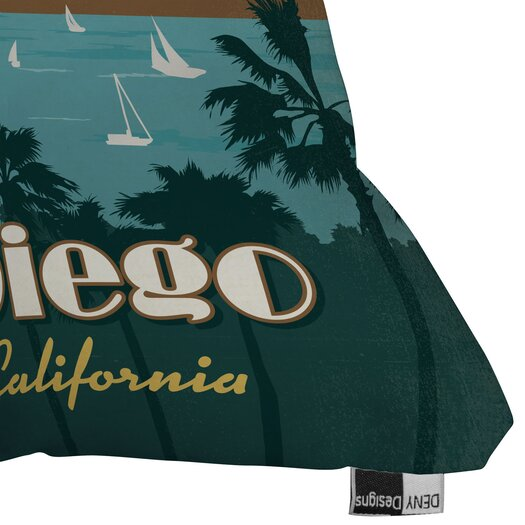 DENY Designs Anderson Design Group San Diego Woven Polyester Throw Pillow