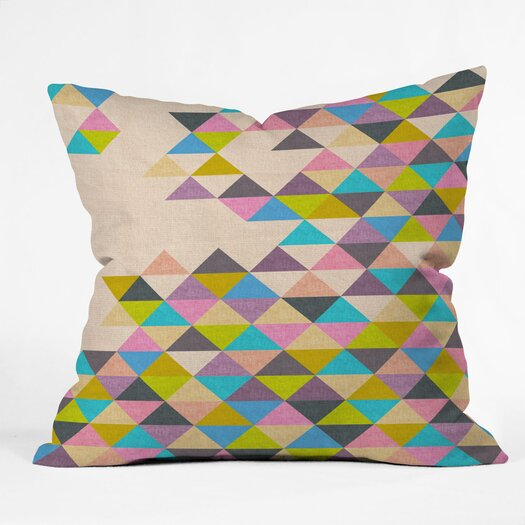 DENY Designs Bianca Green Completely Incomplete Indoor/Outdoor Polyester Throw Pillow