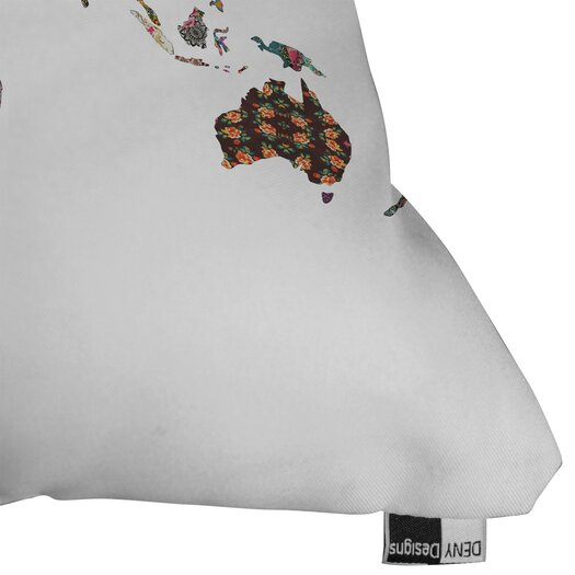 DENY Designs Bianca Green Louis Armstrong Told Us So Indoor/Outdoor Polyester Throw Pillow