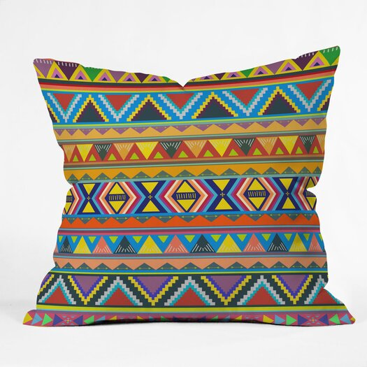DENY Designs Bianca Green Play Woven Polyester Throw Pillow
