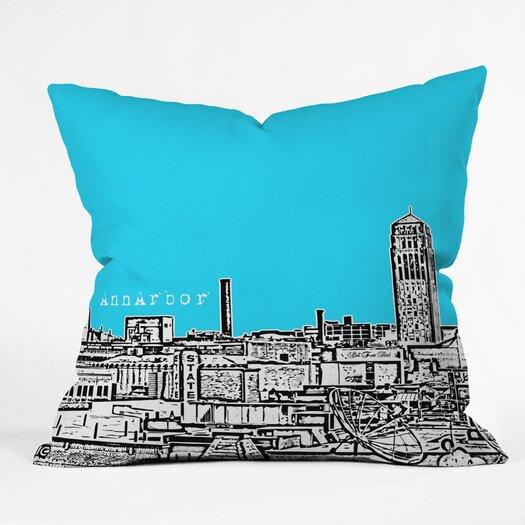 DENY Designs Bird Ave Ann Arbor Indoor/Outdoor Polyester Throw Pillow