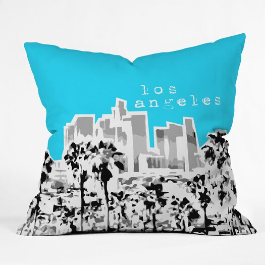 DENY Designs Bird Ave Los Angeles Indoor/Outdoor Polyester Throw Pillow