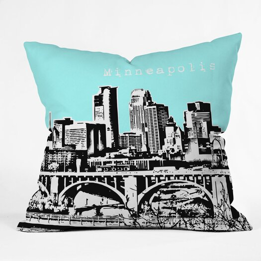 DENY Designs Bird Ave Minneapolis Indoor/Outdoor Polyester Throw Pillow