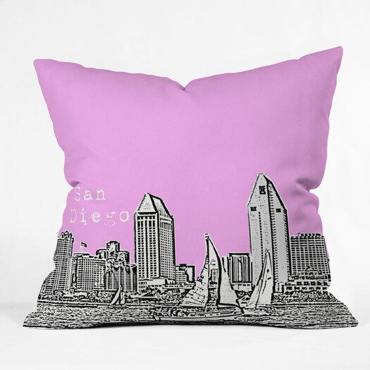DENY Designs Bird Ave San Diego Indoor/Outdoor Polyester Throw Pillow