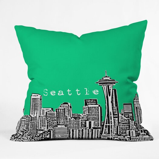 DENY Designs Bird Ave Seattle Woven Polyester Throw Pillow
