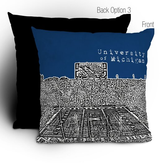 DENY Designs Bird Ave University of Michigan Woven Polyester Throw Pillow
