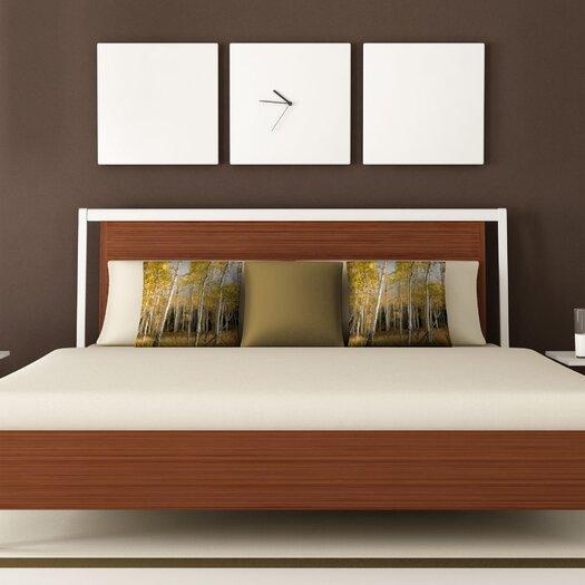DENY Designs Bird Wanna Whistle Aspen Woven Polyester Throw Pillow