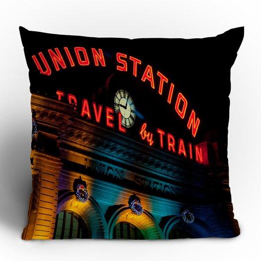 DENY Designs Bird Wanna Whistle Union Station Woven Polyester Throw Pillow