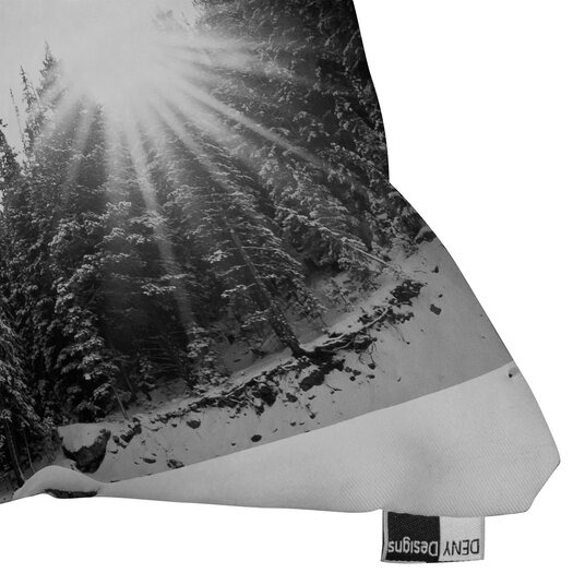 DENY Designs Bird Wanna Whistle Mountain Indoor/Outdoor Polyester Throw Pillow