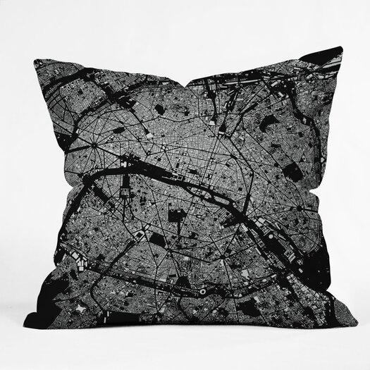 DENY Designs CityFabric Inc Paris Indoor/Outdoor Polyester Throw Pillow