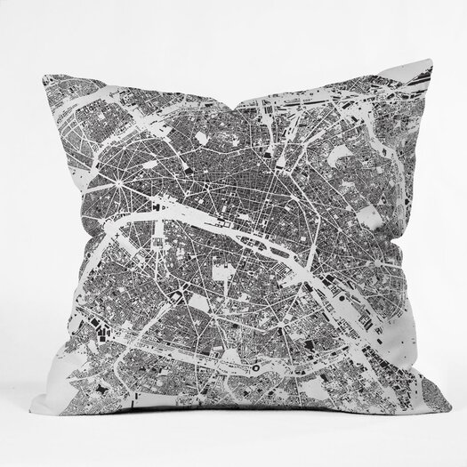 DENY Designs CityFabric Inc Paris Indoor/Outdoor Polyester Throw Pillow