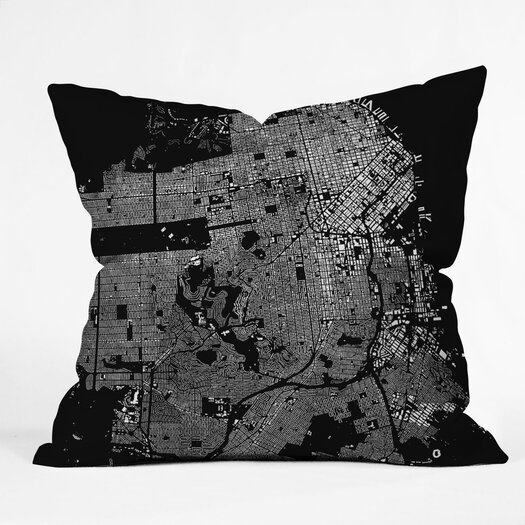 DENY Designs CityFabric Inc San Francisco Indoor/Outdoor Polyester Throw Pillow
