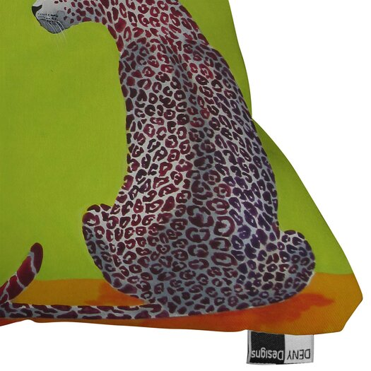 DENY Designs Clara Nilles Leopard Lovers Throw Pillow